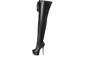 Giaro Stiefel in Übergrößen Schwarz Luisa Black Matte große Damenschuhe – Bild 1