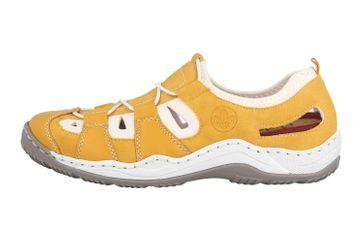 Rieker Sneaker in Übergrößen Gelb L0561-68 große Damenschuhe – Bild 1