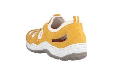 Rieker Sneaker in Übergrößen Gelb L0561-68 große Damenschuhe – Bild 2