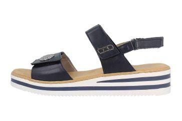 Rieker Sandaletten in Übergrößen Blau V02C8-14 große Damenschuhe – Bild 1