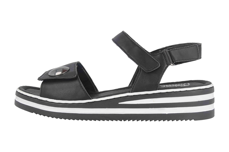 Rieker Sandaletten in Übergrößen Schwarz V02S8 00 große ONG3e