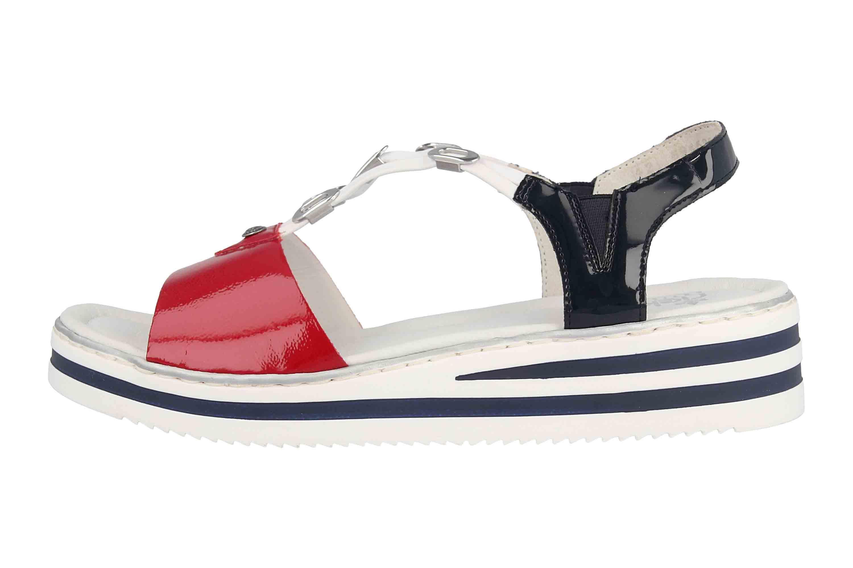 | Rieker Womens Sandalette Rot (4) | Sandals