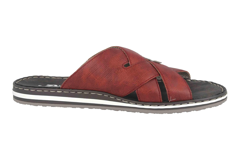 Rieker Pantoletten in Übergrößen Rot 21562 33 große Herrenschuhe