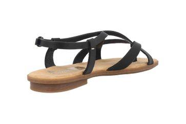 Rieker Sandaletten in Übergrößen Schwarz 64255-00 große Damenschuhe – Bild 3