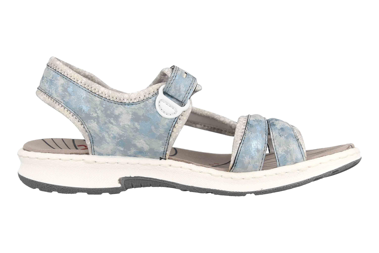 Rieker Sandalen in Übergrößen Blau 67779 12 große Damenschuhe  