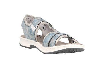 Rieker Sandalen in Übergrößen Blau 67779-12 große Damenschuhe – Bild 5