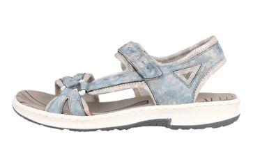 Rieker Sandalen in Übergrößen Blau 67779-12 große Damenschuhe – Bild 1