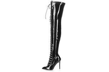 Giaro Stiefel in Übergrößen Schwarz Veruska Black Black Shiny große Damenschuhe – Bild 1