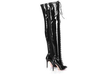 Giaro Stiefel in Übergrößen Schwarz Veruska Black Black Shiny große Damenschuhe – Bild 3