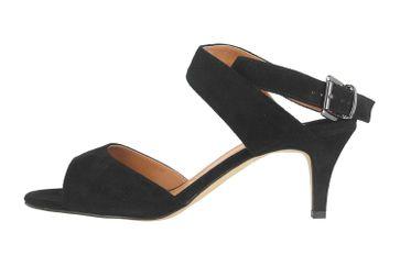 J.Reneé Sandaletten in Übergrößen Schwarz Soncino Black Sued große Damenschuhe – Bild 1