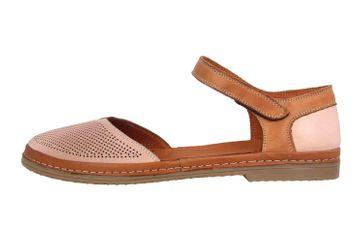 Manitu Sandaletten in Übergrößen Rosa 911006-42 große Damenschuhe – Bild 1