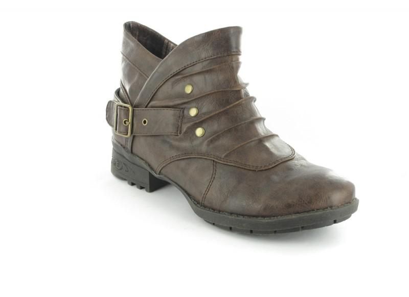 SALE - BORAS - Damen Stiefeletten - Braun Schuhe in Übergrößen – Bild 1