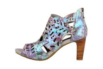 Spring Footwear Sandaletten in Übergrößen Blau Amora-Blum große Damenschuhe – Bild 1
