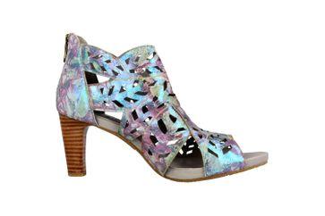 Spring Footwear Sandaletten in Übergrößen Blau Amora-Blum große Damenschuhe – Bild 4