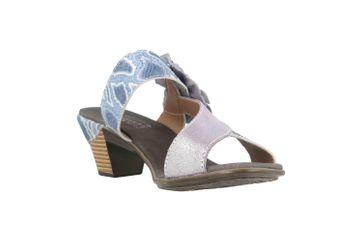 Spring Footwear Sandaletten in Übergrößen Blau Cassana-Blu große Damenschuhe – Bild 5