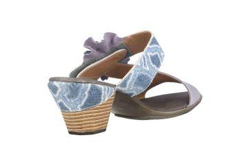 Spring Footwear Sandaletten in Übergrößen Blau Cassana-Blu große Damenschuhe – Bild 3