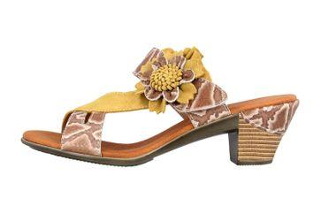 Spring Footwear Sandaletten in Übergrößen Gelb Cassana-Y große Damenschuhe – Bild 1