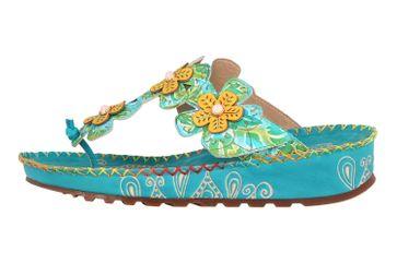 Spring Footwear Zehentrenner in Übergrößen Türkis Crocus-Tqm große Damenschuhe – Bild 1