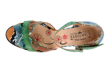 Spring Footwear Sandaletten in Übergrößen Mehrfarbig Glamour-Grm große Damenschuhe – Bild 7