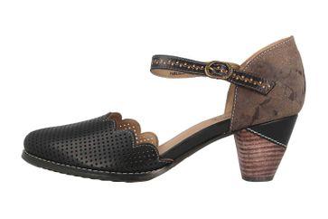 Spring Footwear Sandaletten in Übergrößen Schwarz Parchelle-Bm große Damenschuhe – Bild 1
