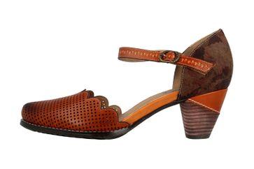 Spring Footwear Sandaletten in Übergrößen Braun Parchelle-Cam große Damenschuhe – Bild 1