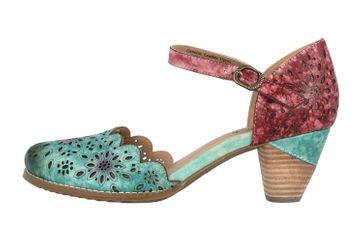 Spring Footwear Sandaletten in Übergrößen Mehrfarbig Parchetta-Blum große Damenschuhe – Bild 1
