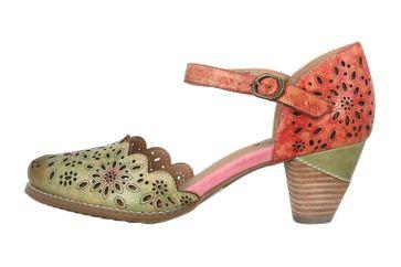 Spring Footwear Sandaletten in Übergrößen Mehrfarbig Parchetta-Olm große Damenschuhe – Bild 1