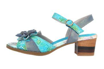 Spring Footwear Sandaletten in Übergrößen Blau Petaluma-Blum große Damenschuhe – Bild 1