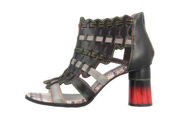 Spring Footwear Sandaletten in Übergrößen Schwarz Platium-Bm große Damenschuhe – Bild 1