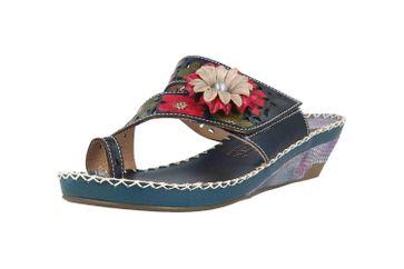 Spring Footwear Zehentrenner in Übergrößen Blau Vardi-Blu große Damenschuhe – Bild 6