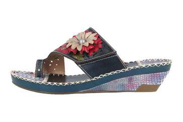 Spring Footwear Zehentrenner in Übergrößen Blau Vardi-Blu große Damenschuhe – Bild 1