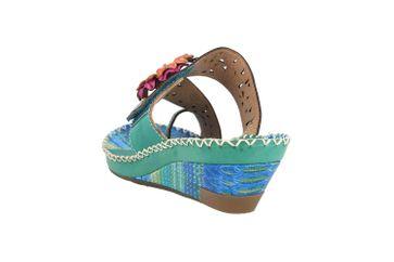 Spring Footwear Zehentrenner in Übergrößen Grün Vardi-Mnt große Damenschuhe – Bild 2