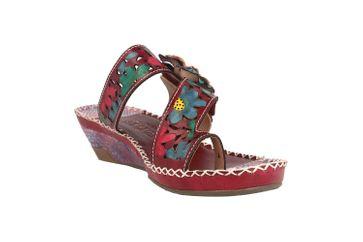Spring Footwear Zehentrenner in Übergrößen Lila Vardi-Pr große Damenschuhe – Bild 5