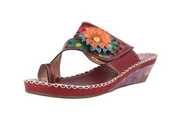 Spring Footwear Zehentrenner in Übergrößen Lila Vardi-Pr große Damenschuhe – Bild 6