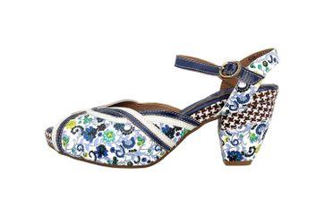 Spring Footwear Sandaletten in Übergrößen Mehrfarbig Dollface-Blum große Damenschuhe – Bild 1