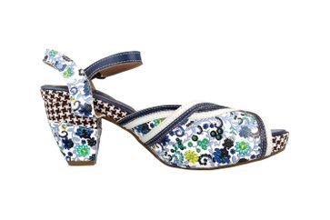 Spring Footwear Sandaletten in Übergrößen Mehrfarbig Dollface-Blum große Damenschuhe – Bild 4