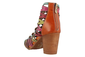 Spring Footwear Sandaletten in Übergrößen Mehrfarbig Julian-Cam große Damenschuhe – Bild 2