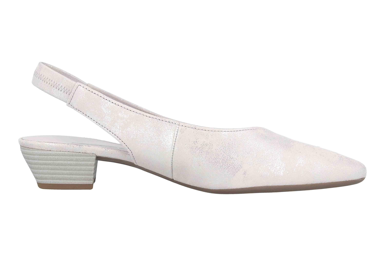Details zu Gabor Fashion Pumps in Übergrößen Silber 41.530.61 große Damenschuhe