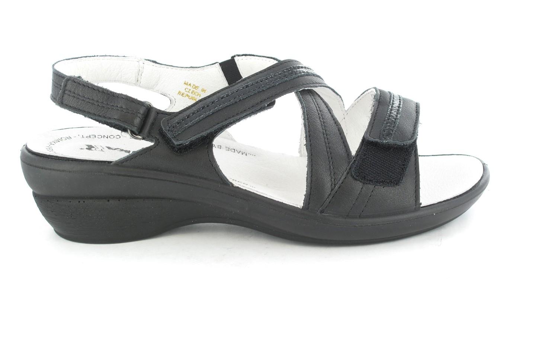 SALE - ROMIKA - Damen Sandaletten - Schwarz Schuhe in Übergrößen – Bild 2
