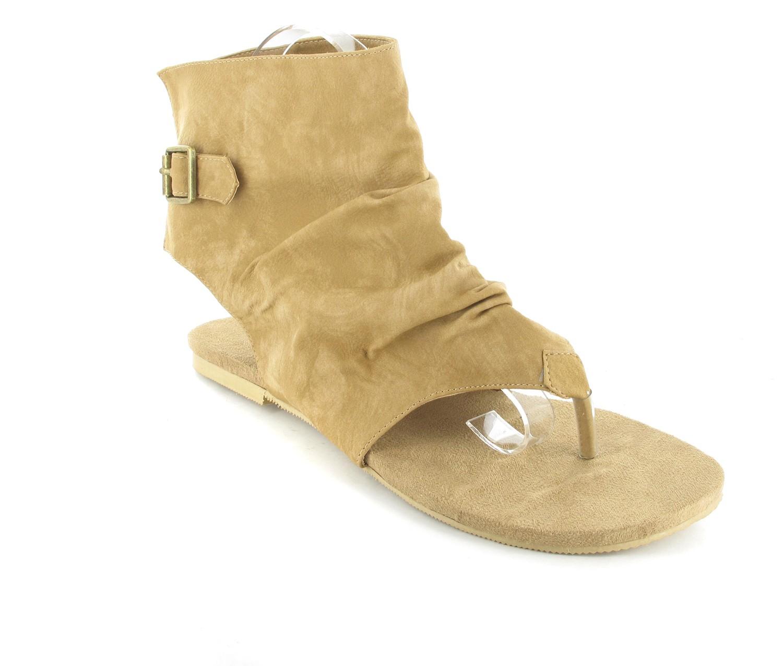 Andres Machado Sandaletten in Übergrößen Braun AM266 Camel große Damenschuhe – Bild 1
