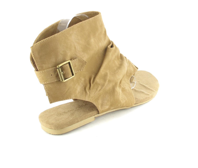 Andres Machado Sandaletten in Übergrößen Braun AM266 Camel große Damenschuhe – Bild 3
