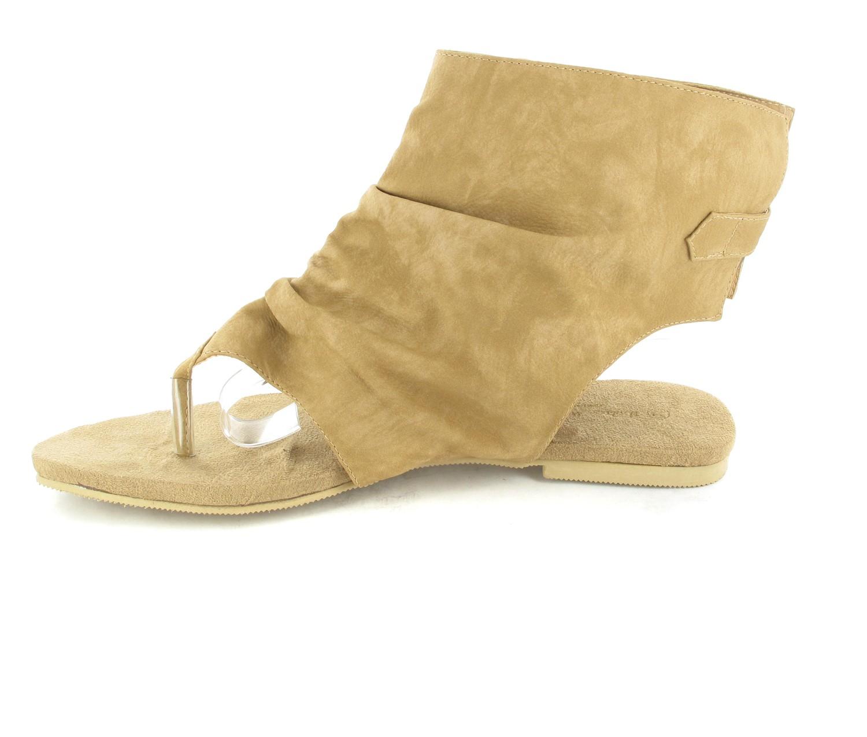 Andres Machado Sandaletten in Übergrößen Braun AM266 Camel große Damenschuhe – Bild 5