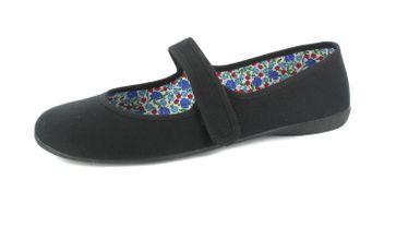 ANDRES MACHADO - Damen - Ballerinas -Schwarz Schuhe in Übergrößen