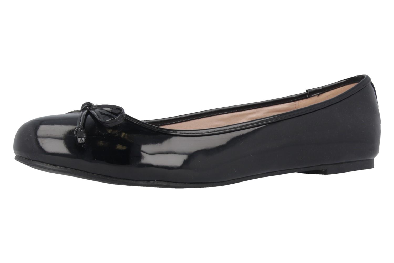 ANDRES MACHADO - Damen Ballerinas - Lack Schwarz Schuhe in Übergrößen – Bild 1