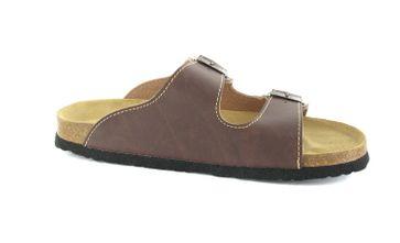 BIOPED - Unisex Pantoletten - Kreta - Dunkelbraun Schuhe in Übergrößen – Bild 6