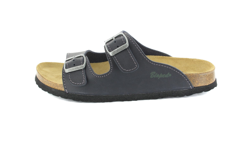 BIOPED - Unisex Pantoletten - Kreta - Dunkelblau Schuhe in Übergrößen – Bild 2