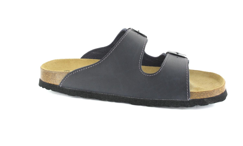BIOPED - Unisex Pantoletten - Kreta - Dunkelblau Schuhe in Übergrößen – Bild 6