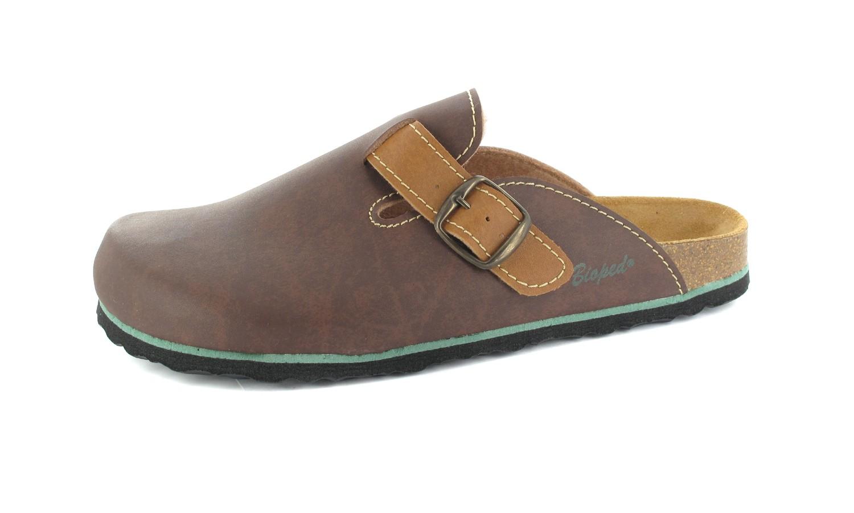 BIOPED - Unisex Clogs - Milano - Dunkelbraun Schuhe in Übergrößen – Bild 1