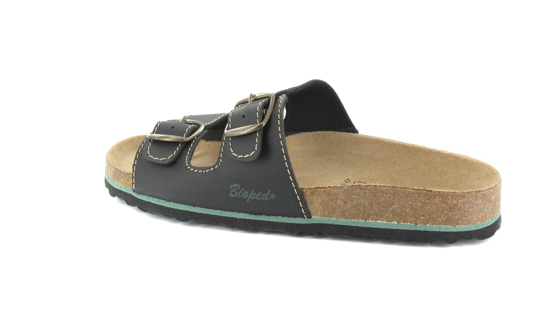 BIOPED - Unisex Pantoletten - Ibiza - Schwarz Schuhe in Übergrößen – Bild 3