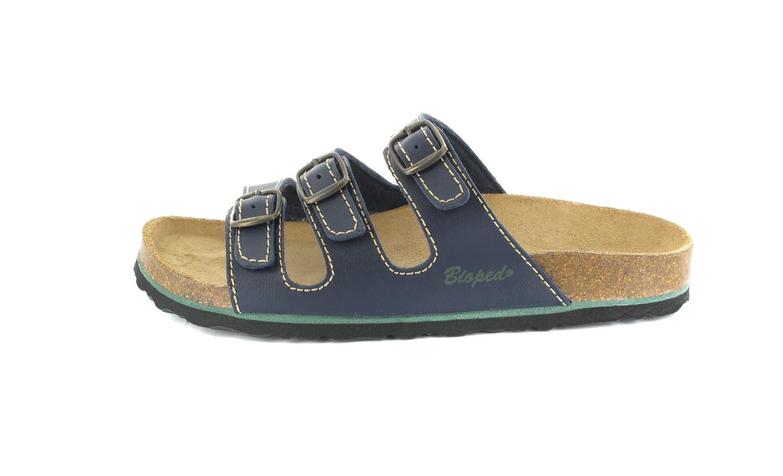 BIOPED -Hausschuhe Pantoletten - Blau Schuhe Günstig – Bild 2